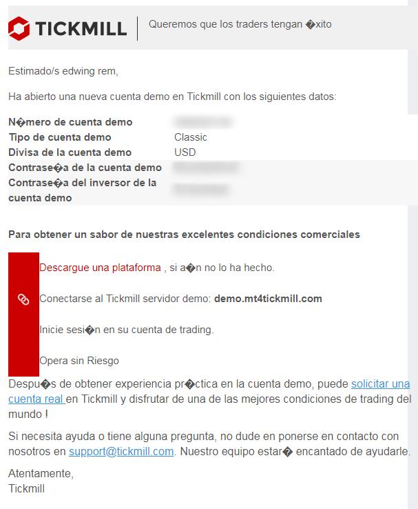 correo datos de cuenta